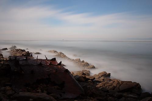 ocean california longexposure beach canon rocks decay shipwreck haida palosverdes t4i 10stop nuetraldensity