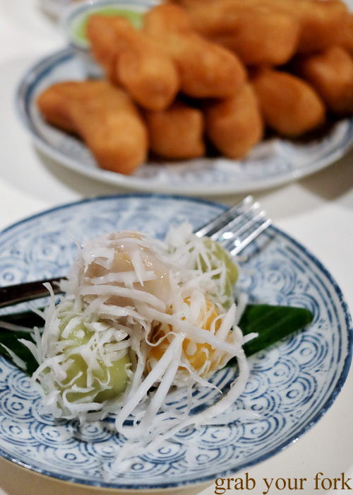 Khanom tom coconut dumplings at Chat Thai, Sydney