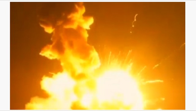 Explosion of Antares Rocket at T+6 Seconds