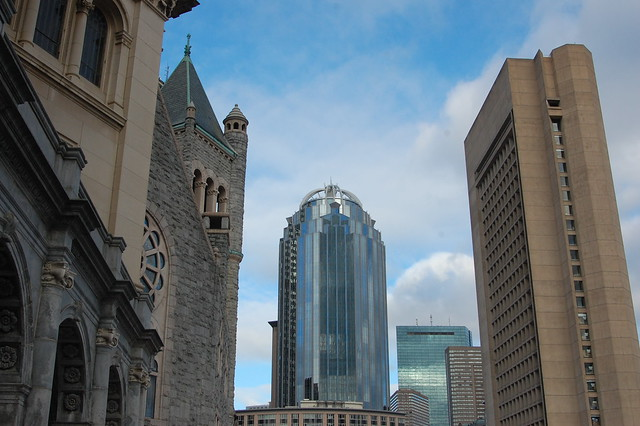 Views from the Christian Science Plaza, Boston