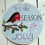 Jolly Robin Christmas Hoop