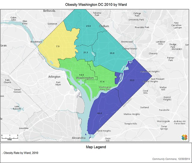 New Maps of DC health data - Not yet one culture of health