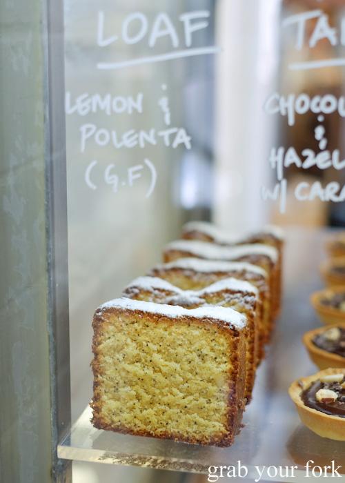 Gluten-free lemon and polenta loaf at Tivoli Road Bakery, South Yarra