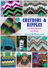 Chevrons & Ripples Free Crochet Pattern Round Up from Jessie At Home