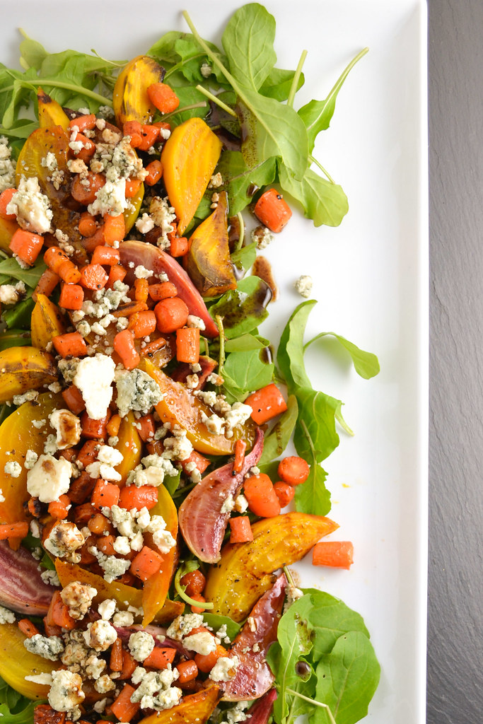 Roasted Beet, Carrot, and Blue Cheese Salad | Things I Made Today