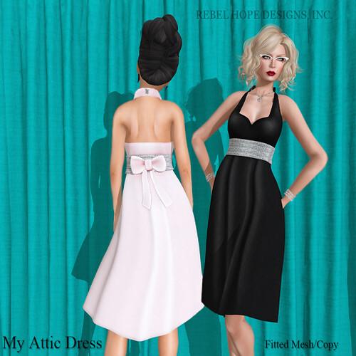 Attic Dress Poster