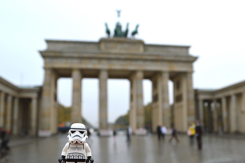 Stormy at the Brandenburg Gate
