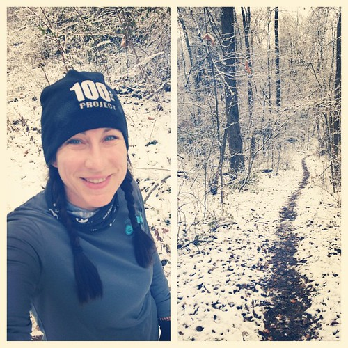 Happy Thanksgiving from the Big Woods! #trailrunning #snow #personalturkeytrot