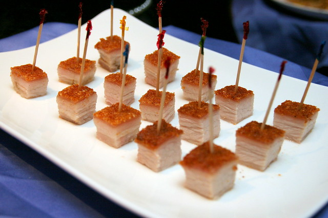 Sublime cubes of Roasted Crispy Pork Belly Marinated in 9 Spices
