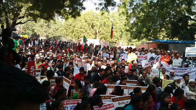22nd anniversary of Babri Masjid demolition: Several groups put up united symbolic demonstration at Jantar Mantar