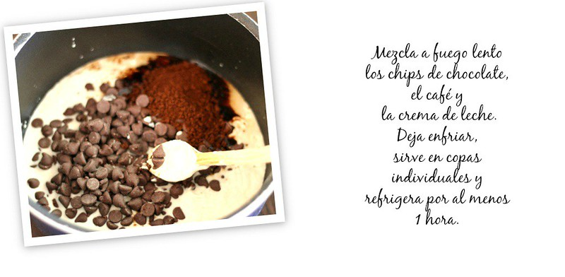Mousse de chocolate y café