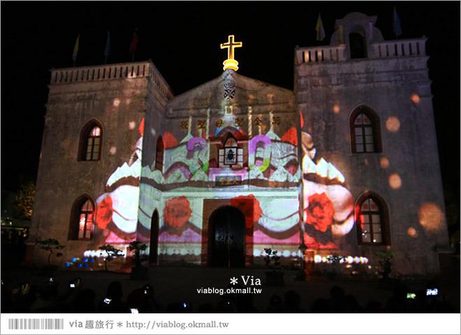 【萬金教堂】屏東萬金教堂聖誕季~3D光雕秀+耶誕地景藝術/全台最濃耶味小鎮!23