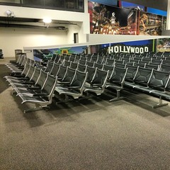 Chairs. Lots of airport seats.