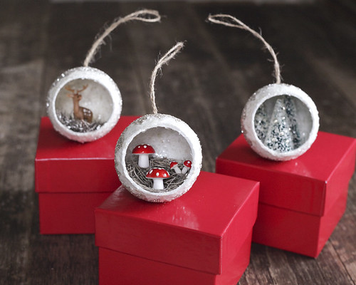 Trio of Diorama Ornaments - Smile Mercantile Giveaway