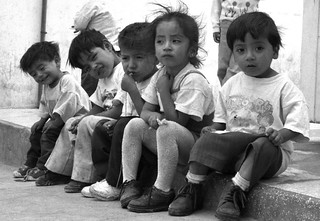 Five Kids on Curb (Caraz, Peru 1998)