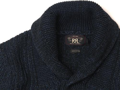 RRL / Indigo Shawl-Collar Cardigan