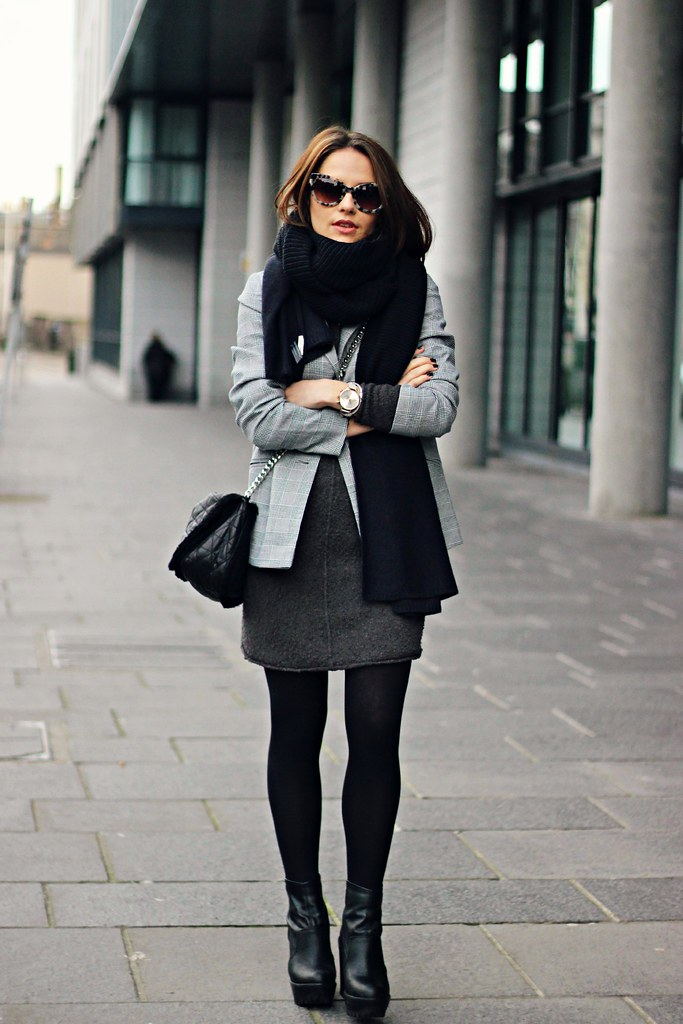 H&M oversized grey knitted jumper