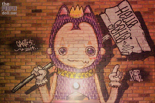Just one of the cool grafitti artworks at SOHO Macau