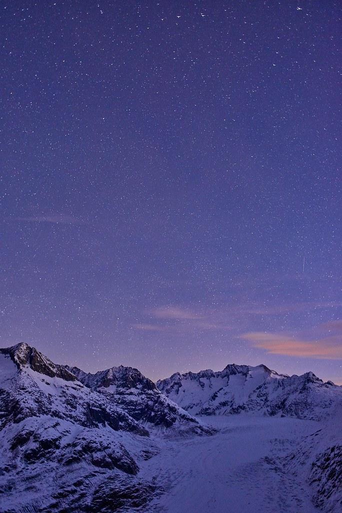 Aletsch Glacier under Stars - Riederalp