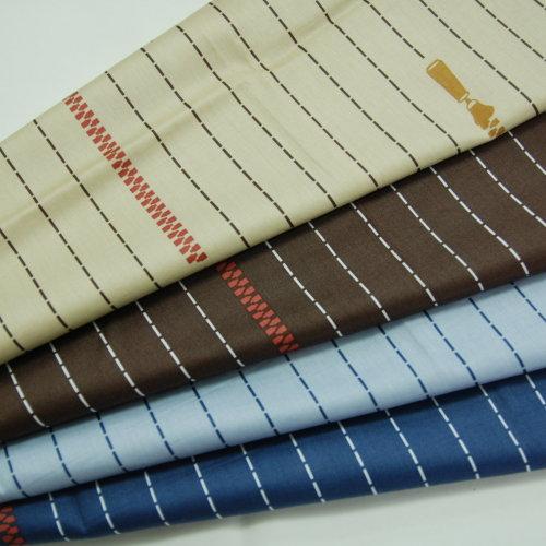 拉鍊線條 精梳棉床品床單布料 CA490295