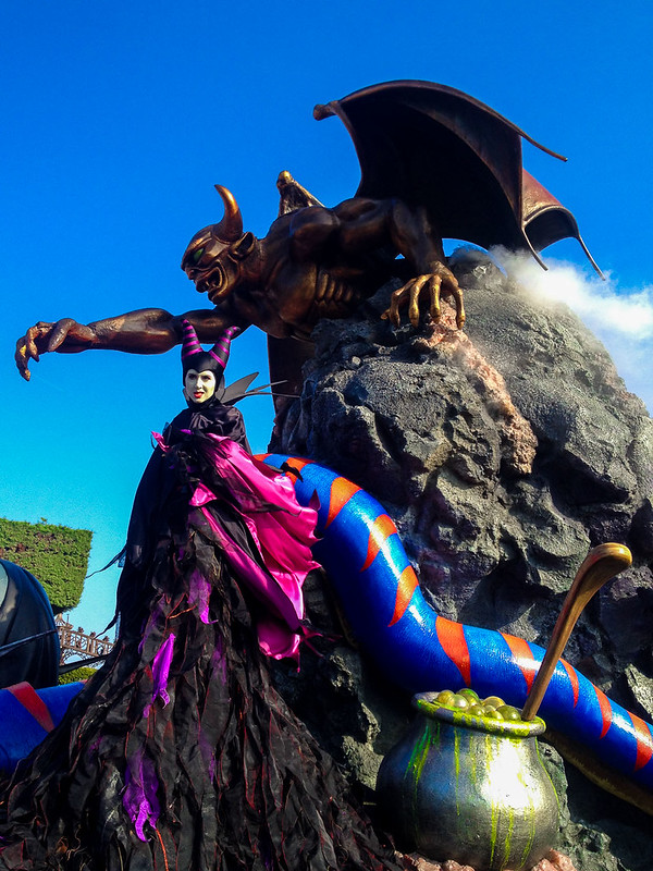 Maleficent in the Disney Villains Promenade