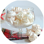 Peppermint Favoured Meringue Cookies