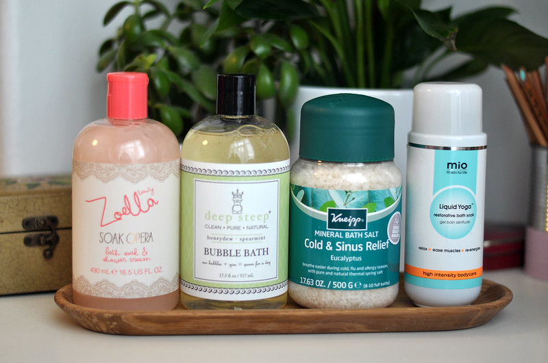 mini reviews zoella deep steep kneipp mio rottenotter rotten otter blog