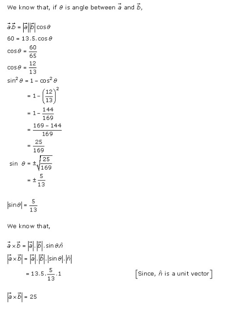 RD Sharma Class 12 Solutions Online Chapter 25 Vector or Cross Product Ex 25.1 Q13