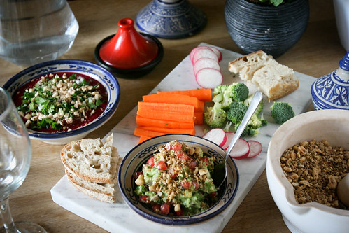 Winter Guacamole with Pomegranate and Dukkah