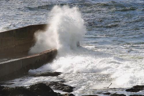 Crashing over the Seawall