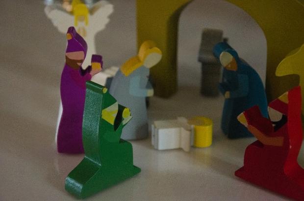 at church | the nativity scene close-up