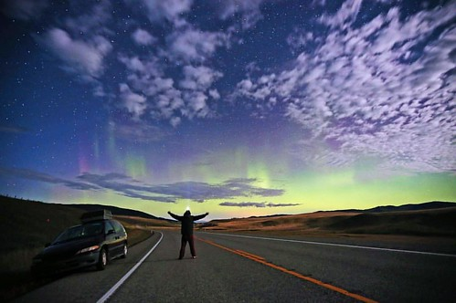 The always incredible northern lights, I was surprised the night I left Canada with a vibrant display in the sky as far south as the USA border.. Even with a full moon rising the lights were still dancing around the sky!!