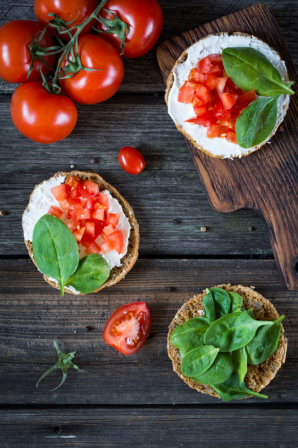 Healthy snack toasts