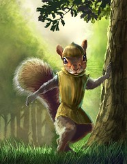 Squirrel character concept