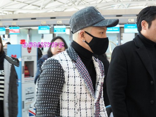 Tae Yang - Incheon Airport - 09jan2015 - NoiizVip - 01