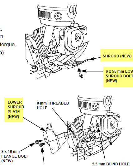 Does a GX series Honda require fabrication of heat shields