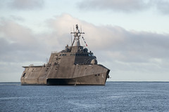 In this file photo, USS Coronado (LCS 3) returns to Pearl Harbor during exercise Rim of the Pacific in August. (U.S. Navy/PO2 Johans Chavarro)