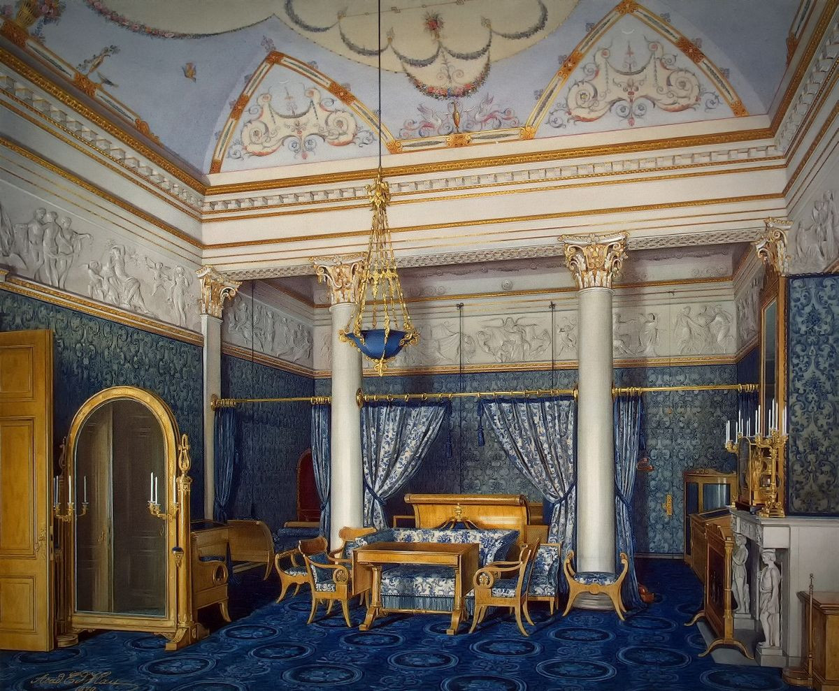 The Bedchamber of Empress Alexandra Fyodorovna, 1869