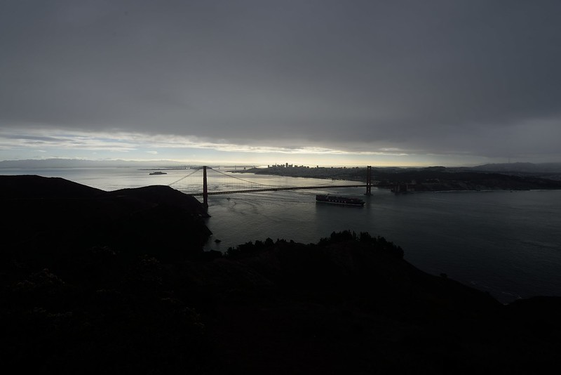 San Francisco Golden Gate Bridge from Marin Headlands.