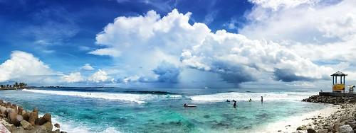 blue sea seascape nature rain clouds surf waves turquoise rainclouds cloudphotography malecity