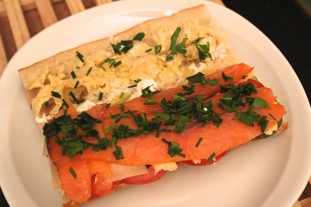 receita rapida de sanduiche de salmao