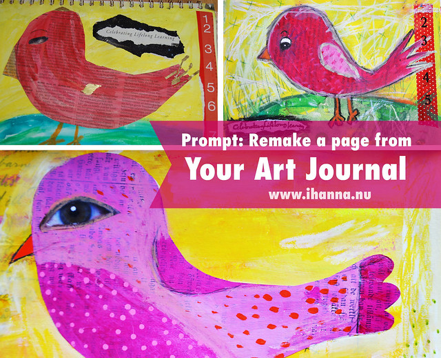 Art Journal Prompt: Remake one of your art journal pages, must-try-idea by iHanna of www.ihanna.nu