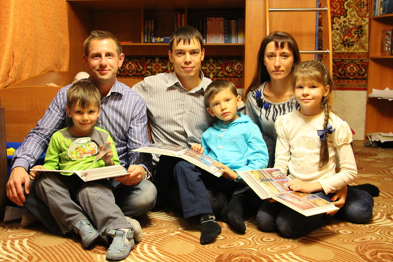 Russia: Justin with Denis and Family