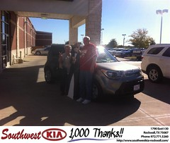 #HappyAnniversary to Kenneth Dupree on your 2014 #Kia #Soul from Gary Guyette  at Southwest KIA Rockwall!