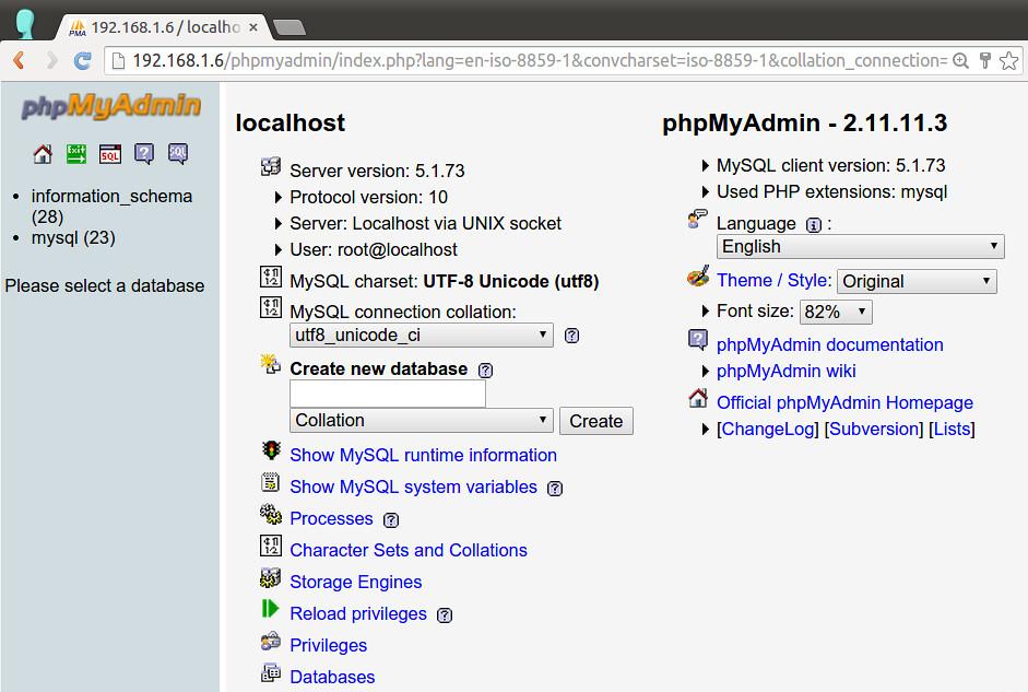 phpMyAdmin on CentOS