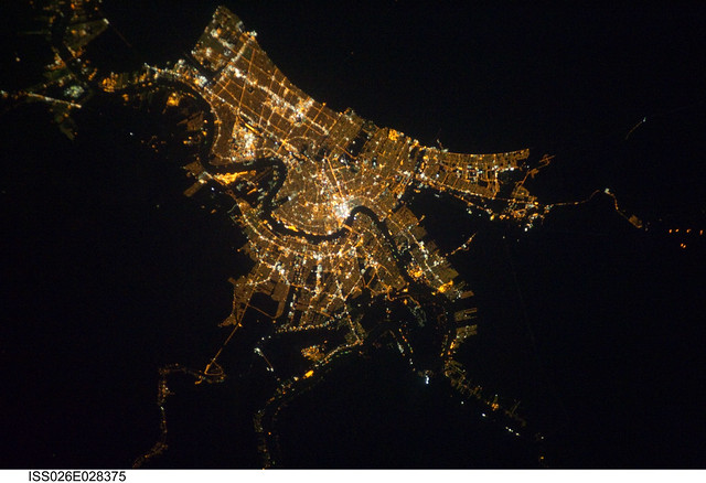 New Orleans At Night As Seen From Orbit