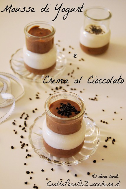 Mousse di yogurt e crema al cioccolato