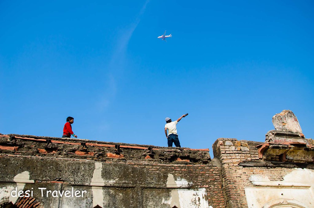 Delhi heritage monuments flight path