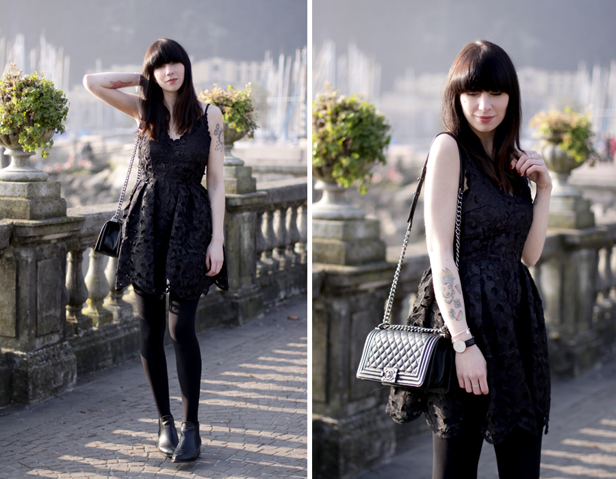 riva del garda garda lake lago di garda italia italy outfit chicwish dress lace black chanel le boy girl bangs brunette travel travelblogger fashionblogger outfit ootd lookbook fashion girl german ricarda schernus blog blogger hannover berlin 6