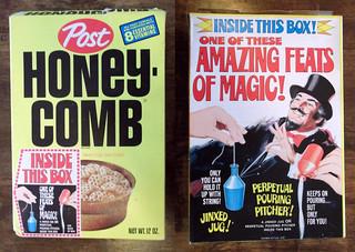 1973 Post Honeycomb Cereal Box Feats of Magic